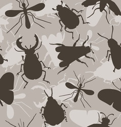 Insects Bee Beetles Mosquito vector