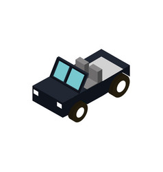 jeep transport vehicle isometric icon vector image