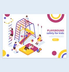 kids playground isometric concept vector image