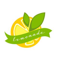 Lemonade organic drink made lemons label of vector