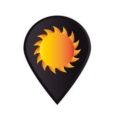 mark icon pointer gps with sun vector image