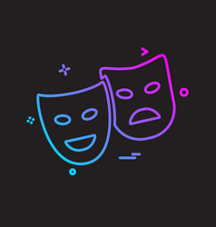 mask icon design vector image