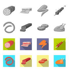 Meat and ham symbol vector