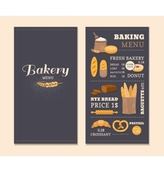 Menu template cafe bakery vector image
