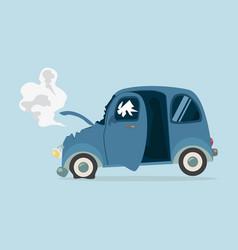 mini car accident vector image