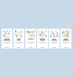 mobile app onboarding screens business team and vector image