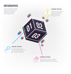 modern and minimal 3d infographic vector image
