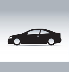Modern shapes and icon of car vector