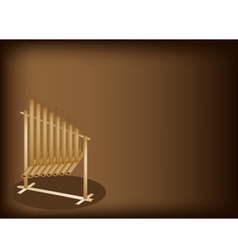 Musical Angklung Brown Background vector