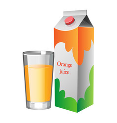 natural fresh orange juice in a glass vector image