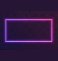 neon gradient rectangular frame blue-pink glowing vector image