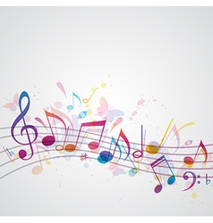 note music abstract vector image