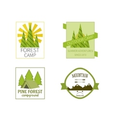 Outdoor Activity Travel Logo Vintage Labels design vector