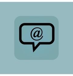 Pale blue e-mail message icon vector image