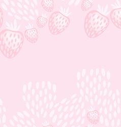 Pink strawberry yoghurt seamless pattern vector
