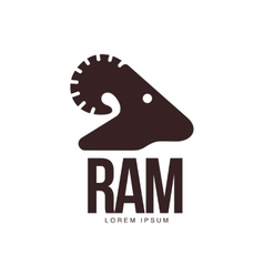 Ram sheep lamb head silhouette graphic logo vector
