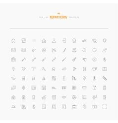 repair icons set vector image