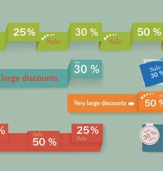 Sale banner design advertising shopping flyers vector