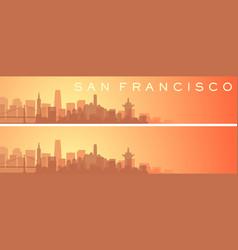 San francisco beautiful skyline scenery banner vector
