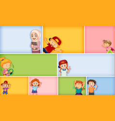 Set different kid characters on different vector