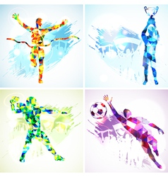 Set Sport Silhouettes vector image