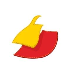 Sewing cloth cartoon icon vector