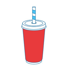 soft drink cup icon vector image