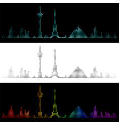 Sound graph style las vegas skyline vector