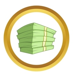 Stack of money icon vector
