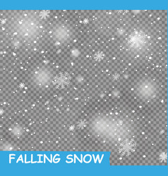 Stock falling snow snowflakes vector