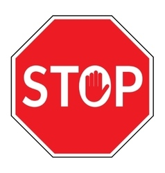 stop sign on white background vector image