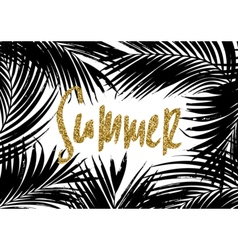 Summer Palm Leaves Design vector image vector image