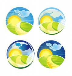 sunrise sphere vector image