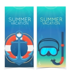 Swimming and diving banners vector image