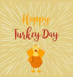 Thanksgiving funny turkey on white background vector
