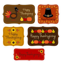 thanksgiving labels clipart vector image