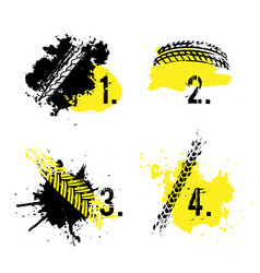 tire tread marks banners vector image