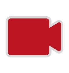 Video camera isolated icon design vector