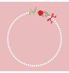Vintage pearl necklace vector image