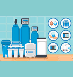 Water treatment concept vector