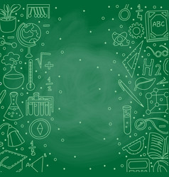 Welcome back to school hand drawn supply doodles vector