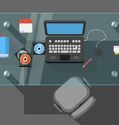 Working place of an office manager vector