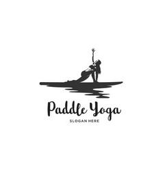Yoga board silhouette logo vector