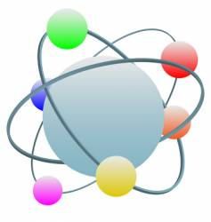 abstract atom symbol vector image vector image
