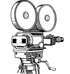 movie camera vector image