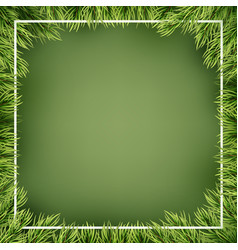 christmas frame decorated with fir branches eps vector image
