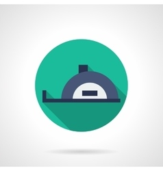 Meter measurer round flat icon vector image