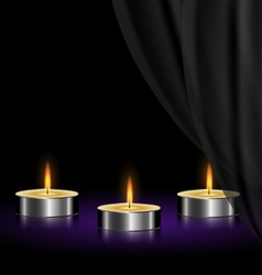 sad candles vector image