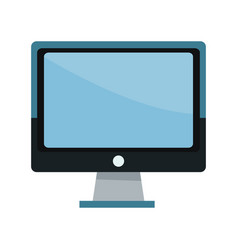 Screen monitor computer device technology icon vector