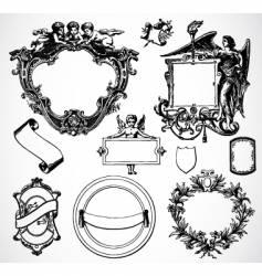 victorian ornament set vector image vector image